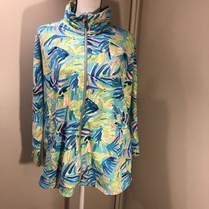 Lilly Pulitzer zip up size m in euc!